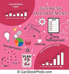 Business improvement infographic vector illustration