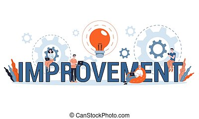 Business improvement, personal development and progress concept. Financial growth and success. Finding best solution. Flat vector illustration