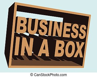 Business in a Box (Vector) - An illustration of business-in-...