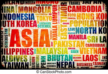 Business in Asia Concept with Asian Countries