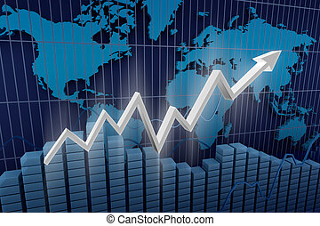 Business. Income diagram background