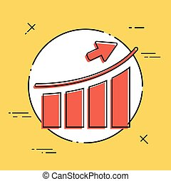 Business increase - Flat minimal icon