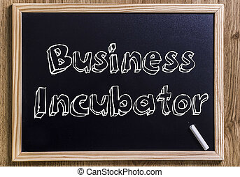 Business Incubator - New chalkboard with 3D outlined text