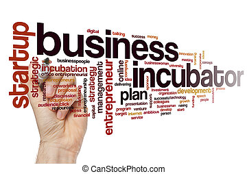 Business incubator word cloud