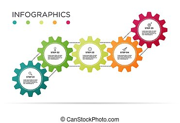 Business Info graphic template.