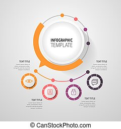 Business infographic concept - vector set of infographic elements in flat design style for presentation, booklet, website. Vector icons set.