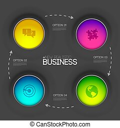 business infographic design background concept. vector illustration
