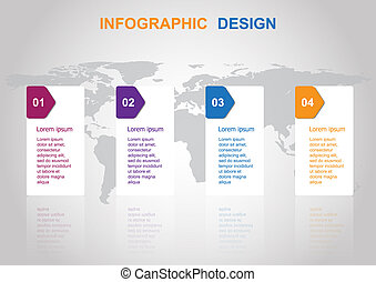 Business infographic design template with banners
