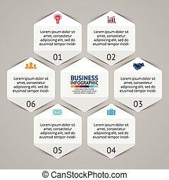 Business infographic, diagram, presentation