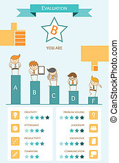 business infographic evaluation concept