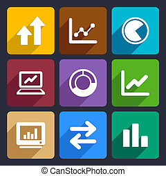 Business Infographic flat icons set  34