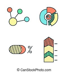 Business Infographic icons - diagram, chart. Vector illustration.