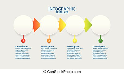 Business infographic, template circle with four step ,vector illustration