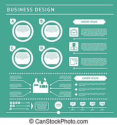 Business infographic template. Flat design set