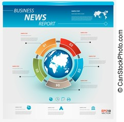 Business infographic template pack for interactive data...