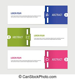 Business Infographic Template with Clip Shapes