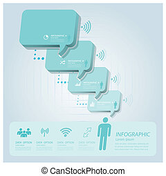 Business Infographic With Communication Speech Bubble Vector Design