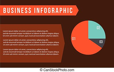 Business infographic with diagram concept