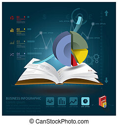 Business Infographic With Open Book Learning Style