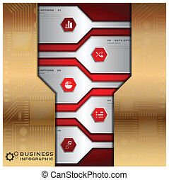Business Infographic With Technology Background