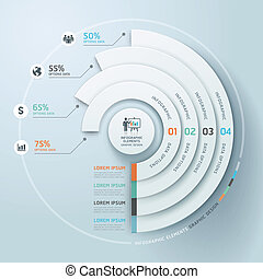 Business infographics circle.