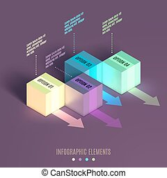 Business Infographics cube.