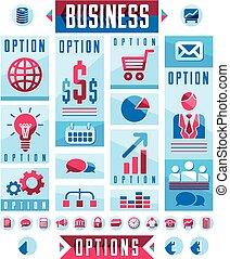 Business infographics elements, set of different design elements for visual presentation usage, vector illustration.