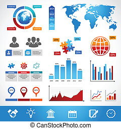 Business Infographics Layout Design Elements - Business...
