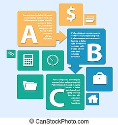 Business Infographics origami style. can be used for workflow layout, banner, number step up options web design. Vector