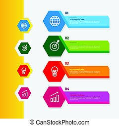 Business infographics set vector. Abstract infographics design.