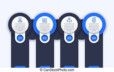 business infographics template, 1, 2, 3, 4 steps