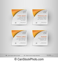 Business infographics template. Vector design elements.