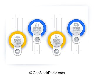 business infographics, timeline template, vector