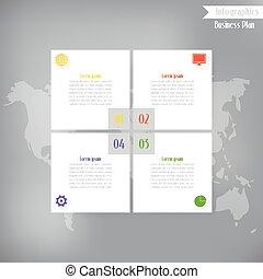 Business infographics, Vector illustration for  banner, web design, infographic, presentation.