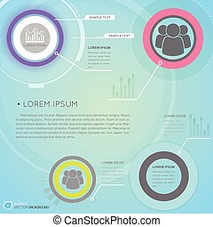 Business Infographics With Futuristic User Interface