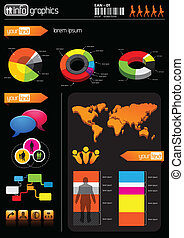 Business Infomation Elements. Grouped business vector elements.