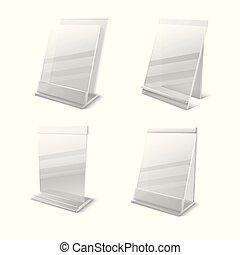 Business information transparent plexiglass empty holders ...