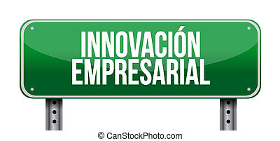 business innovation post sign in Spanish