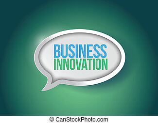 Business innovation speech bubble illustration