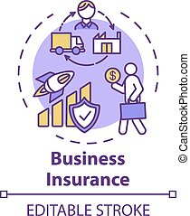 Business insurance concept icon