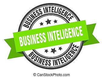 business inteligence label. business inteligenceround band ...