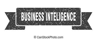 business inteligence ribbon. business inteligence grunge ...
