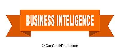 business inteligence ribbon. business inteligence paper band...