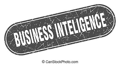 business inteligence sign. business inteligence grunge black...