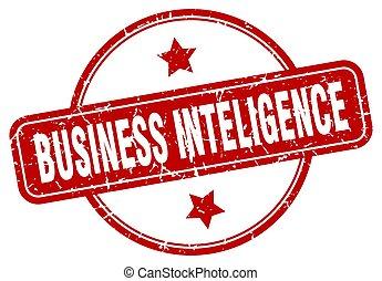 business inteligence stamp. business inteligence round ...