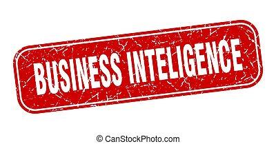 business inteligence stamp. business inteligence square ...