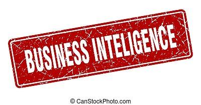 business inteligence stamp. business inteligence vintage red...