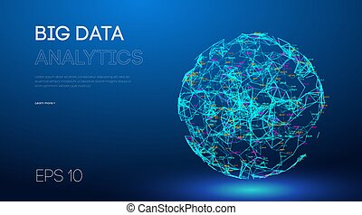Business inteligence technology background. Binary code ...