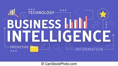 business, intelligence, concept., idée, analyse, données
