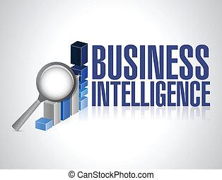 business intelligence concept illustration design over a...